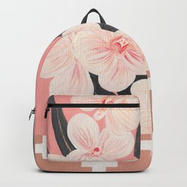 Pink Orchids and crosses Backpack