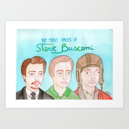 The many faces of Steve Buscemi Art Print