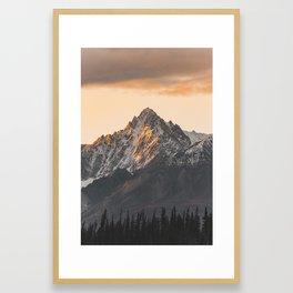 Yukon glow. Framed Art Print