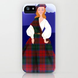 Scottish Lass  iPhone Case