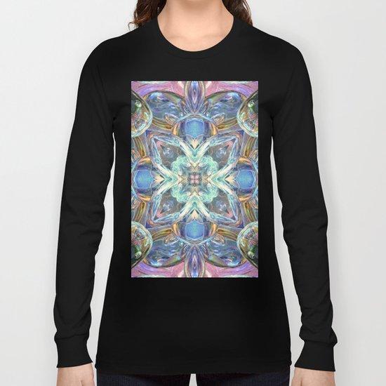 Colorful Kaleidoscope Reflections Long Sleeve T-shirt