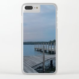 Weirs Beach Docks Clear iPhone Case