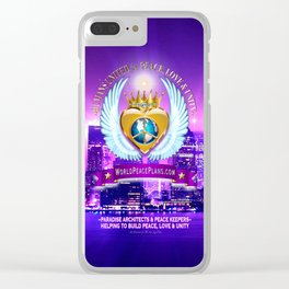 Humans United for Peace Clear iPhone Case