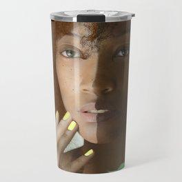 Colorism Split-Face Black Woman Travel Mug