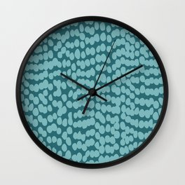 Tropical Abstract Dot Pattern, Teal Wall Clock