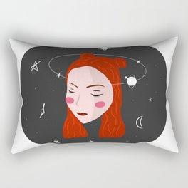 Space Girl Rectangular Pillow