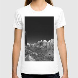 Zion Park View in B&W T-shirt
