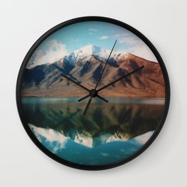 Film photo of New Zealand Glacier Landscape Wall Clock