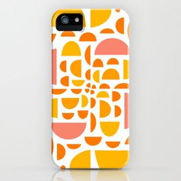 Mid Century Citrus Wedges - Multi-Colored  iPhone Case