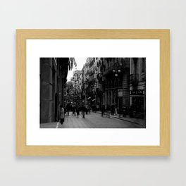 Ghosts in the street Framed Art Print