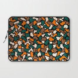 Autumn Tones Wobbly Mosaic Tiles Laptop Sleeve