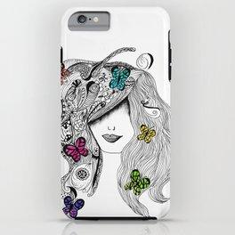 365 cabelos -drawing butterflies  iPhone Case