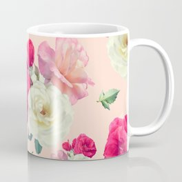 seamless   pattern of rose flowers . Endless texture Coffee Mug