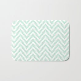 Chevron ZigZag Herringbone pattern - Mint light green I #Society6 Bath Mat