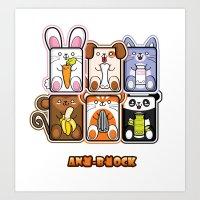 Ani-Block Art Print