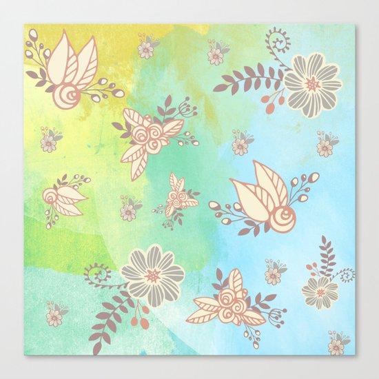 Soft flower pattern Canvas Print