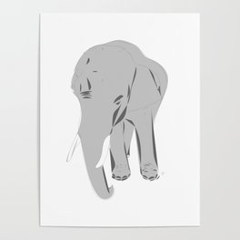 Thailand Elephant Poster