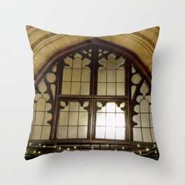 St. Mary Abbots Cloister Detail Throw Pillow