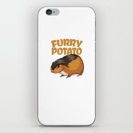 Furry Potato Baby Hamster Rodents Wild Animals Domestic Pet Lovers Gifts iPhone Skin
