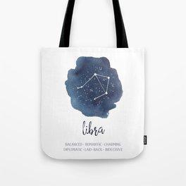 Libra Constellation Zodiac Print Tote Bag