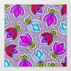 Pop Off Floral Canvas Print
