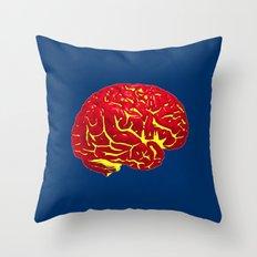 Brain of a Superhero - Superman Throw Pillow