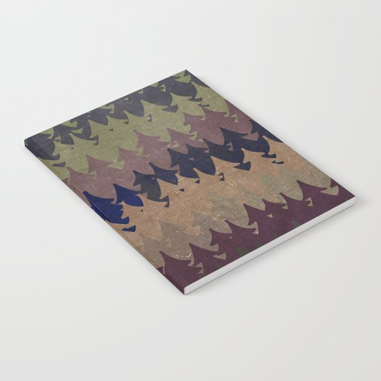 The secret forest at late afternoon- Abstract tree pattern Notebook