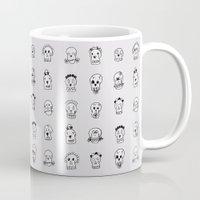 sugar skulls Mugs featuring Sugar Skulls by Samantha Scafidi