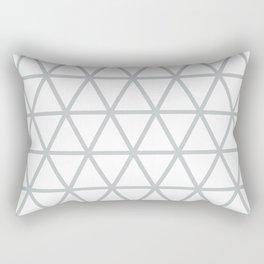 Light Grey Triangle Pattern 2 Rectangular Pillow