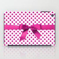 polkadot iPad Cases featuring Pink Polkadot - Ribbon by albert Junior