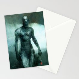 Man to Leaves Four Stationery Cards