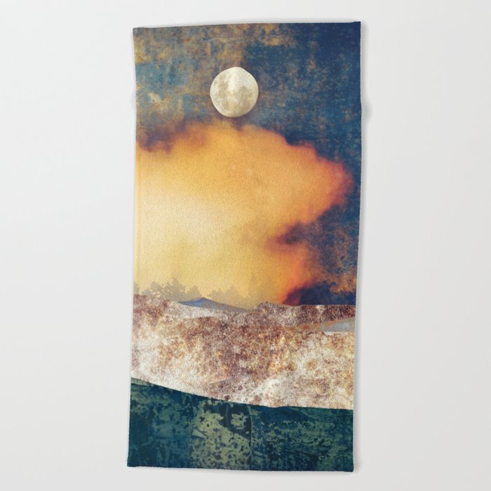 Summer Moon Beach Towel