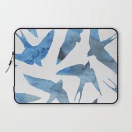 Watercolor birds - sapphire ink Laptop Sleeve