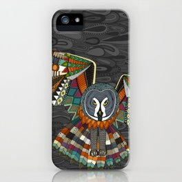 night owl charcoal iPhone Case