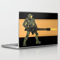 master chief Laptop & iPad Skins featuring Master Chief by Arnix