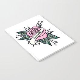 Feminist Rose  Pastel Notebook
