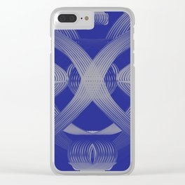 Excellence Blue & White dpa150607.b1 Clear iPhone Case