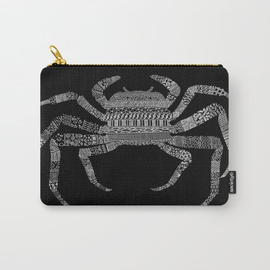 Crab (On Black) Carry-All Pouch