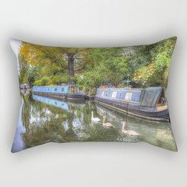 Narrow Boats Little Venice London Rectangular Pillow