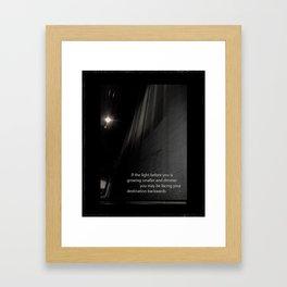 If the light.... Framed Art Print