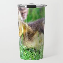 Canada Day Goslings by Reay of Light Travel Mug