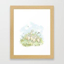 Sleeping Bunnies Framed Art Print