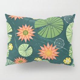 Lily pad pond Pillow Sham