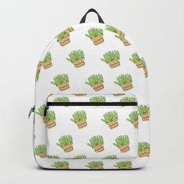 pianta grassa in vaso Backpack