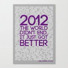 2012...It Was Emotional Canvas Print