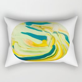 What The World Needs Now. Yellow Marble. Rectangular Pillow