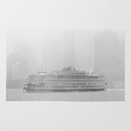 Staten Island Ferry in the fog Rug