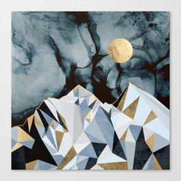 Midnight Peaks Canvas Print