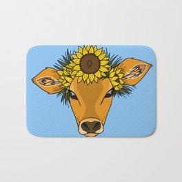 Flower Cow Bath Mat