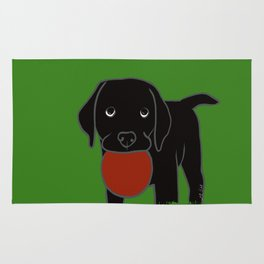 Black Lab Puppy Rug